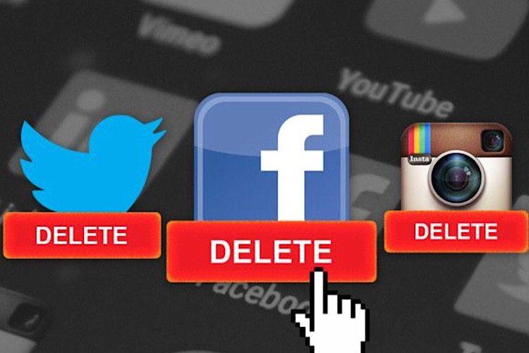 چگونه تمام حساب های کاربری شبکه های اجتماعی خود را پاک کنیم