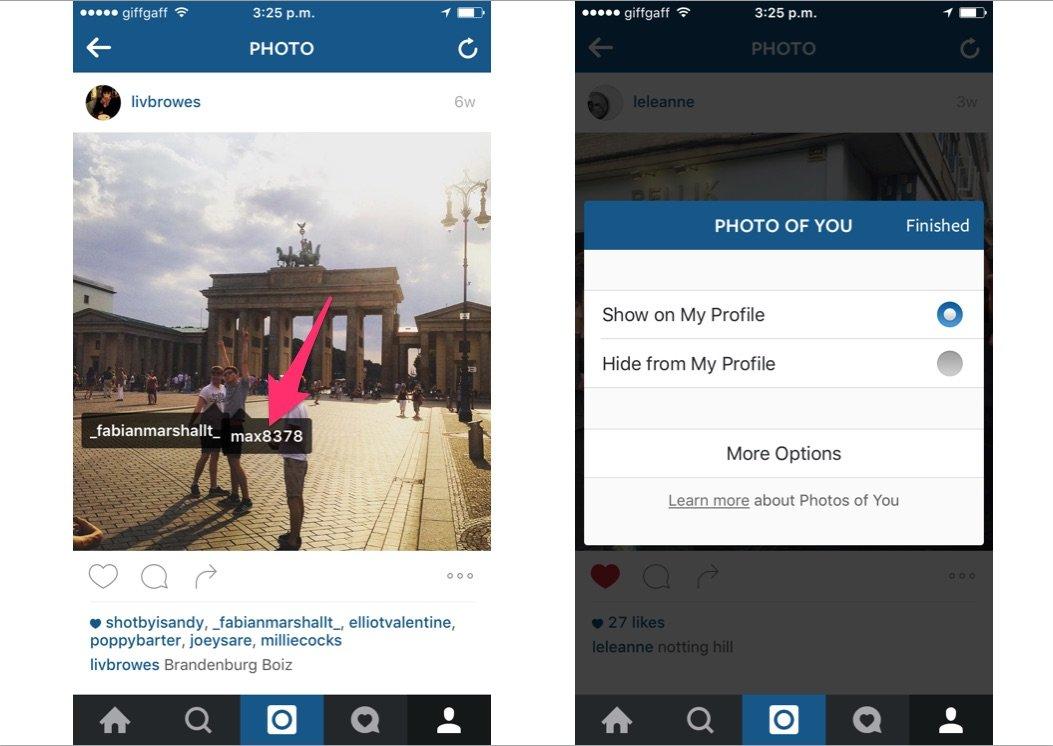 حذف تگ نام شما در تصاویر نامناسبی که توسط دیگران به اشتراک گذاشته شده