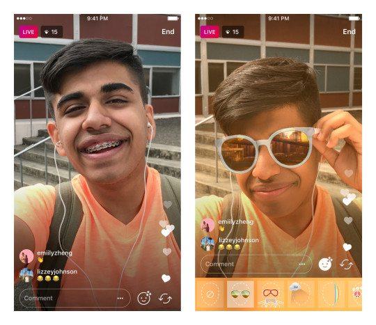اینستاگرام از فیلترهای چهره برای ویدیوهای زنده رونمایی کرد