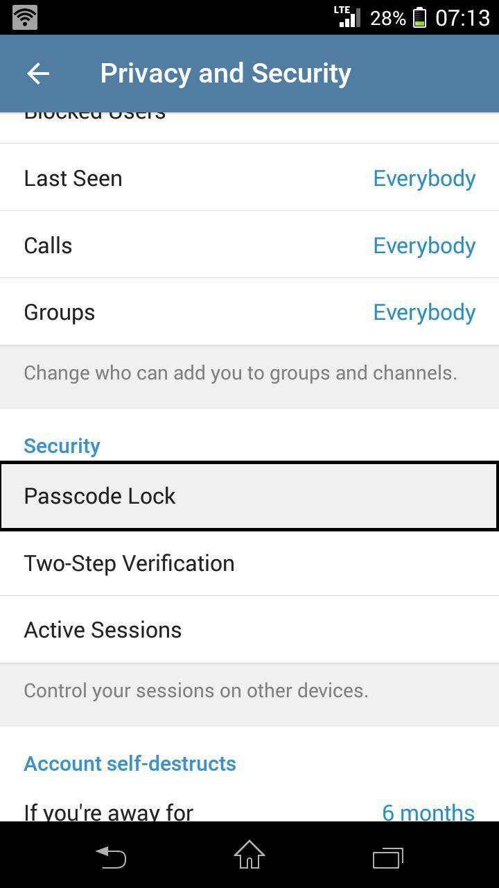 قفل تلگرام 3