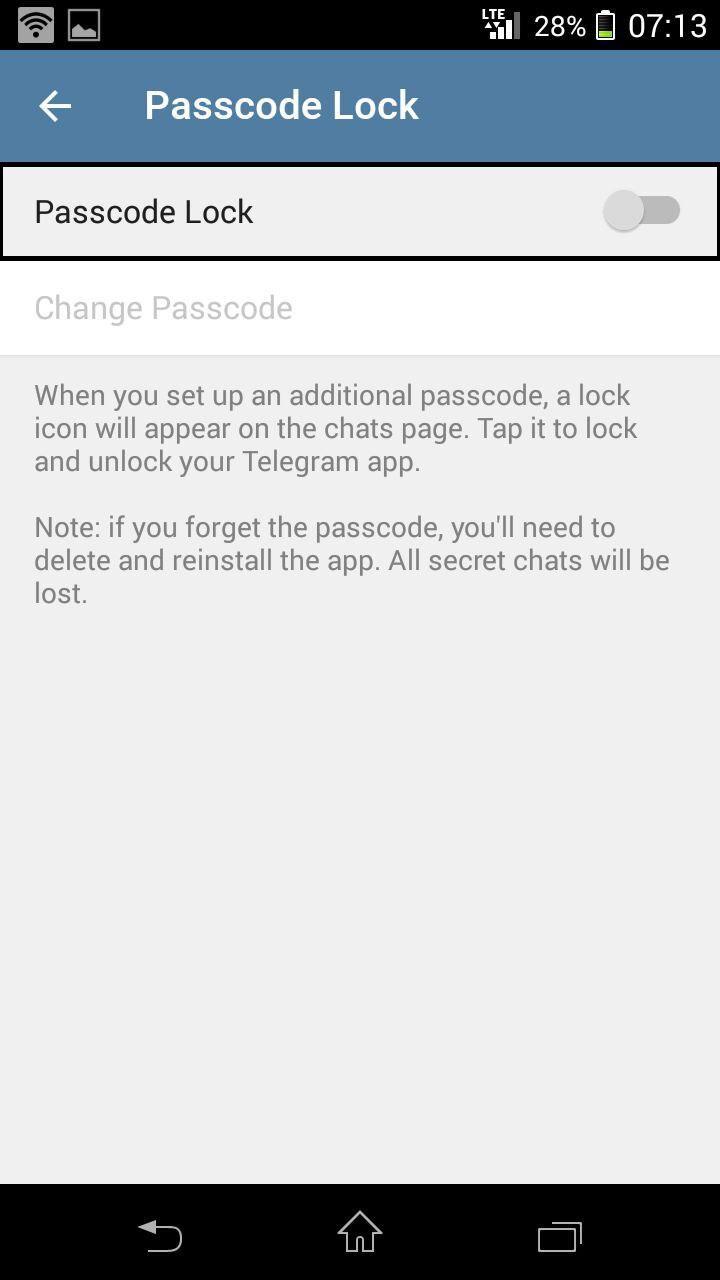 قفل تلگرام 4